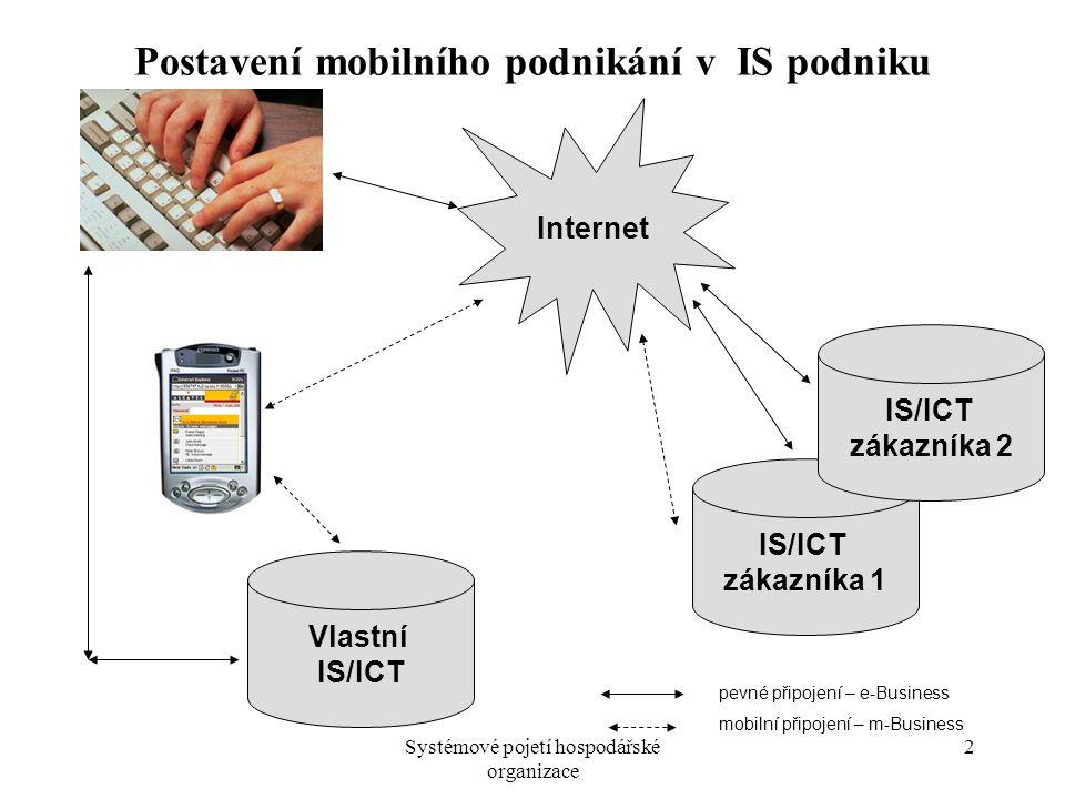 Postavení mobilního podnikání v IS podniku