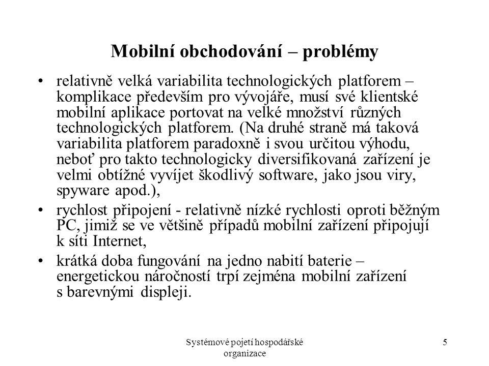 Mobilní obchodování – problémy