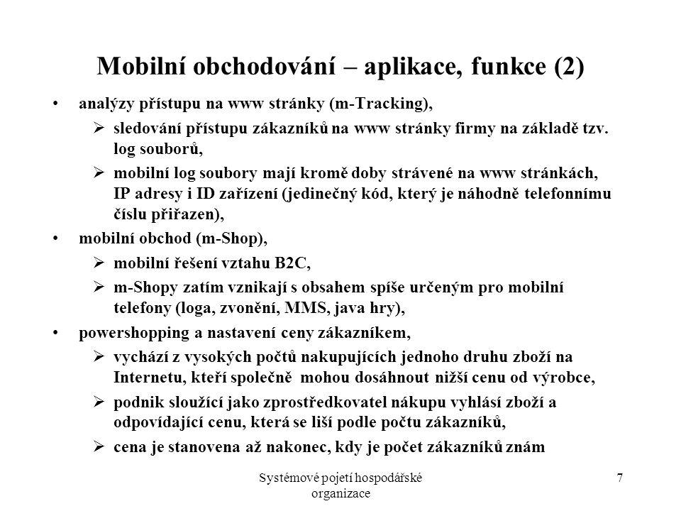Mobilní obchodování – aplikace, funkce (2)