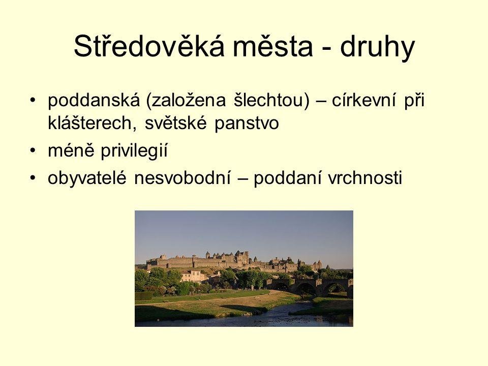 Středověká města - druhy