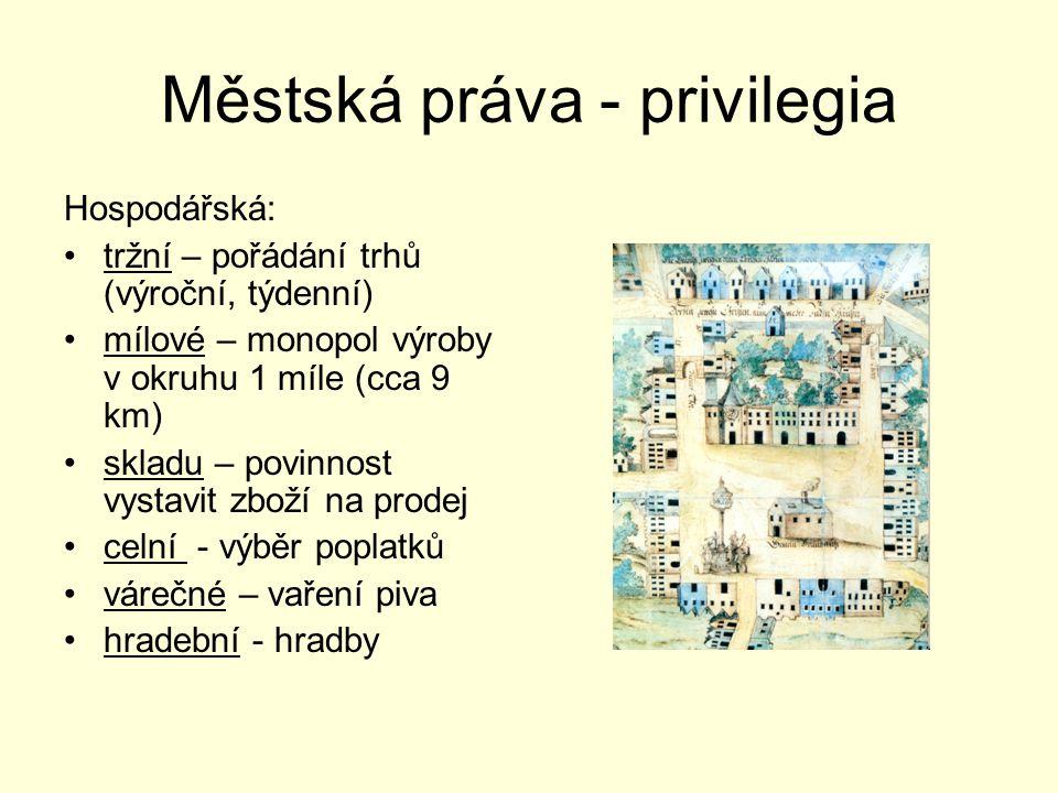 Městská práva - privilegia