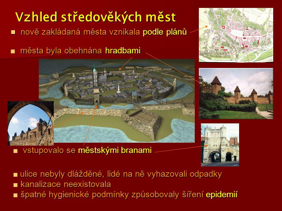 Vzhled středověkých měst