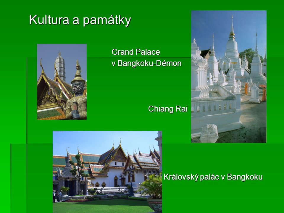 Kultura a památky Grand Palace v Bangkoku-Démon Chiang Rai