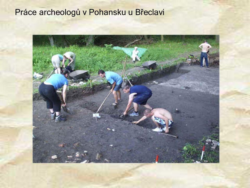 Práce archeologů v Pohansku u Břeclavi