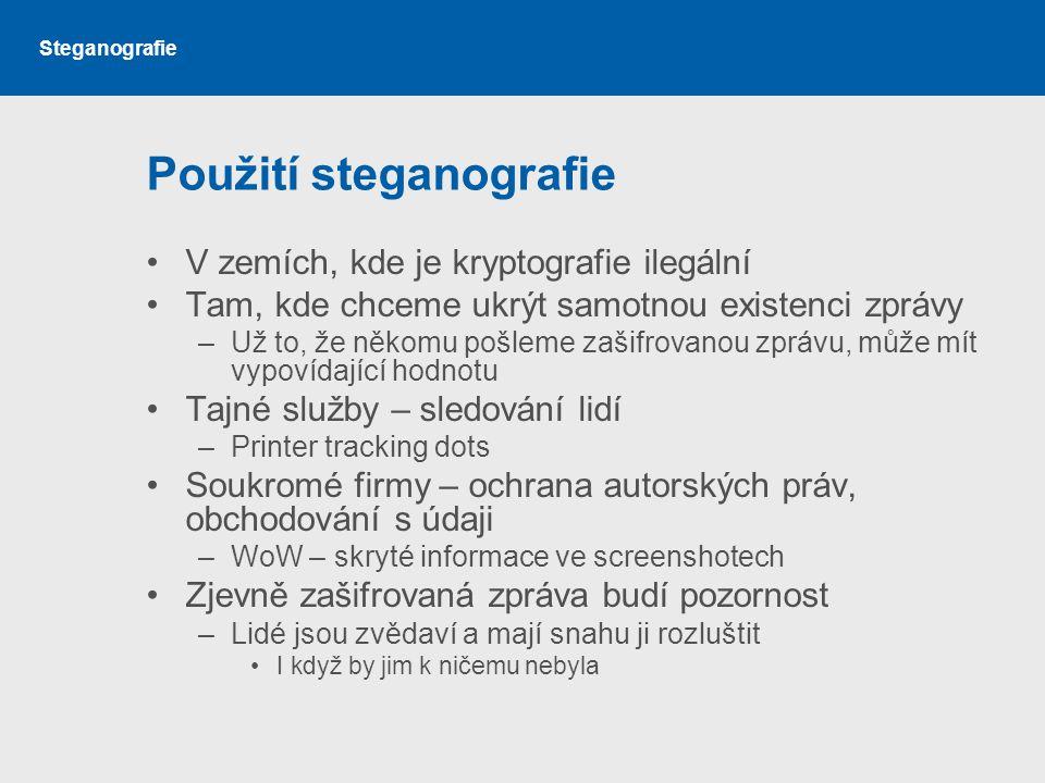Použití steganografie