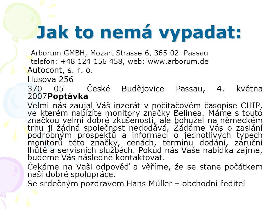 Jak to nemá vypadat: Autocont, s. r. o. Husova 256