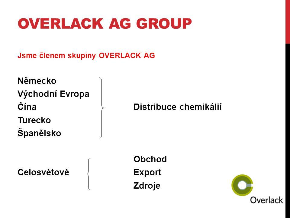 OVERLACK AG group Německo Východní Evropa Čína Distribuce chemikálií