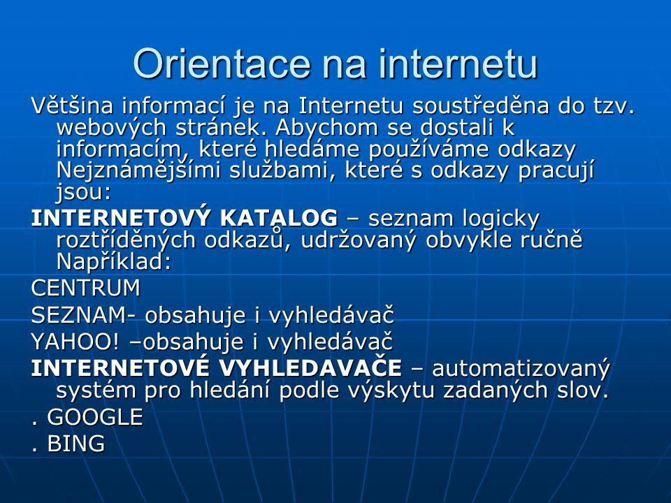 Orientace na internetu