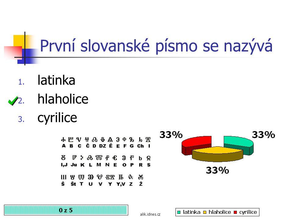 První slovanské písmo se nazývá