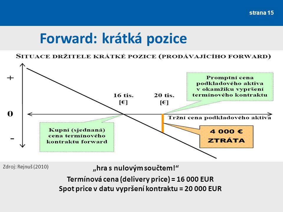 Forward: krátká pozice