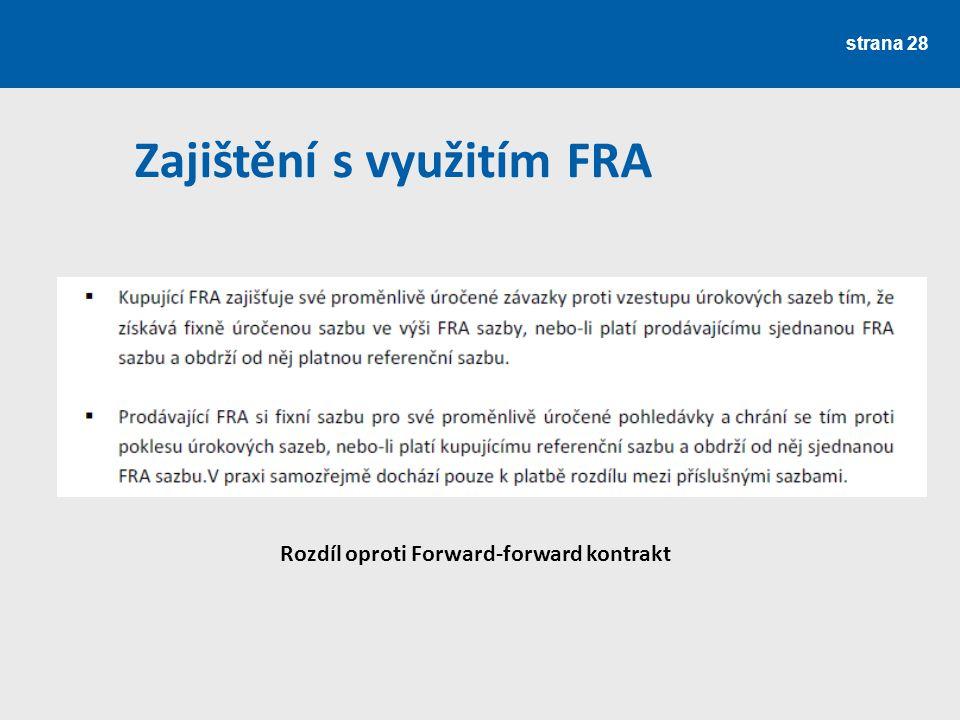 Zajištění s využitím FRA