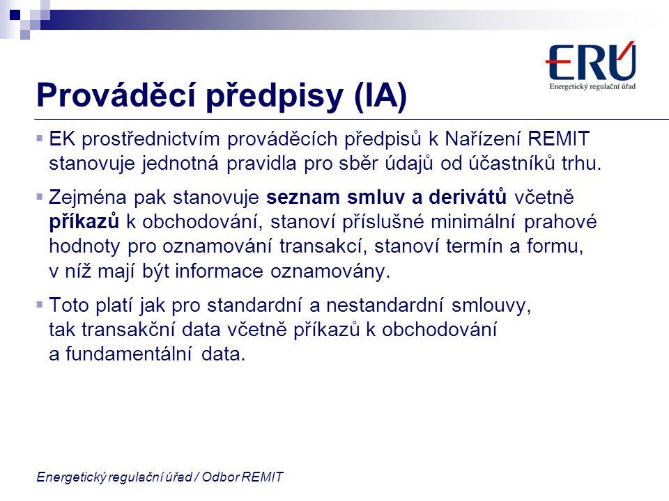Prováděcí předpisy (IA)