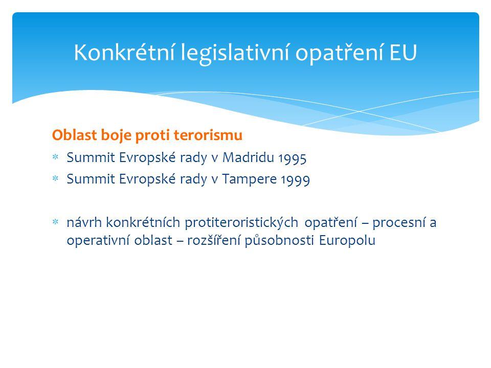 Konkrétní legislativní opatření EU