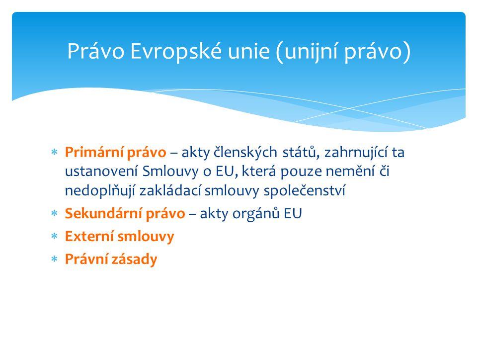 Právo Evropské unie (unijní právo)