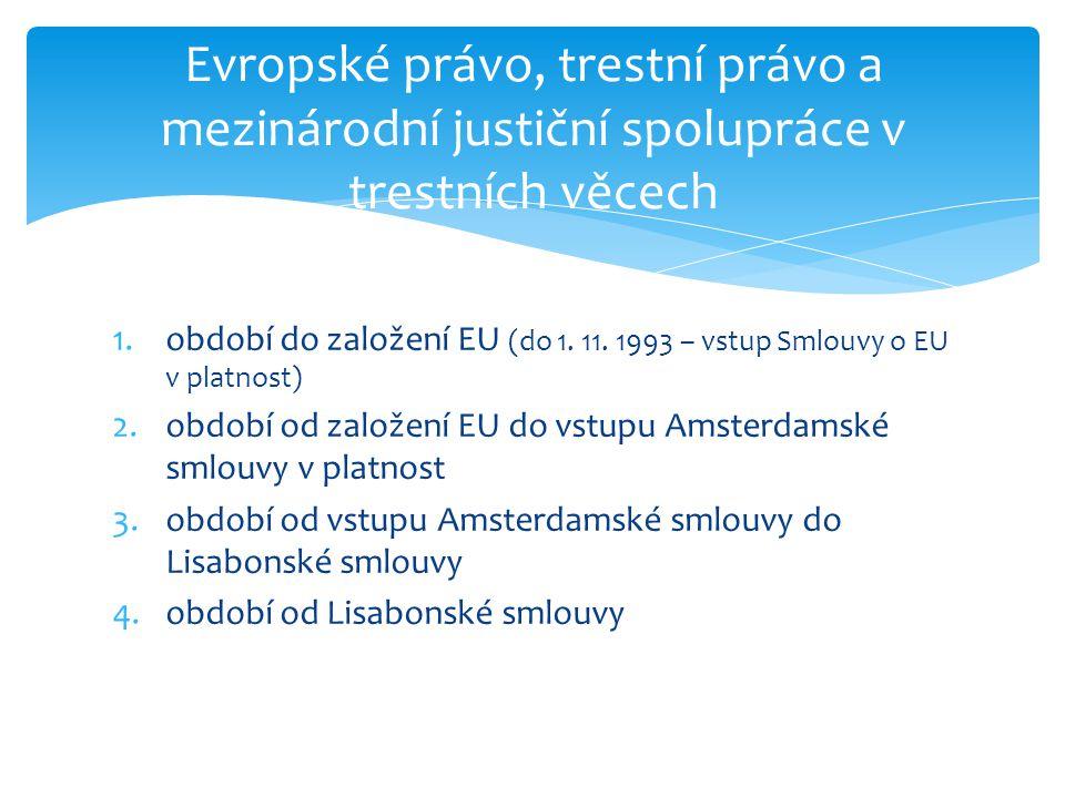 Evropské právo, trestní právo a mezinárodní justiční spolupráce v trestních věcech