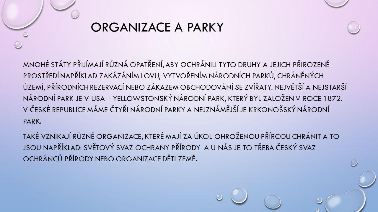 ORGANIZACE A PARKY