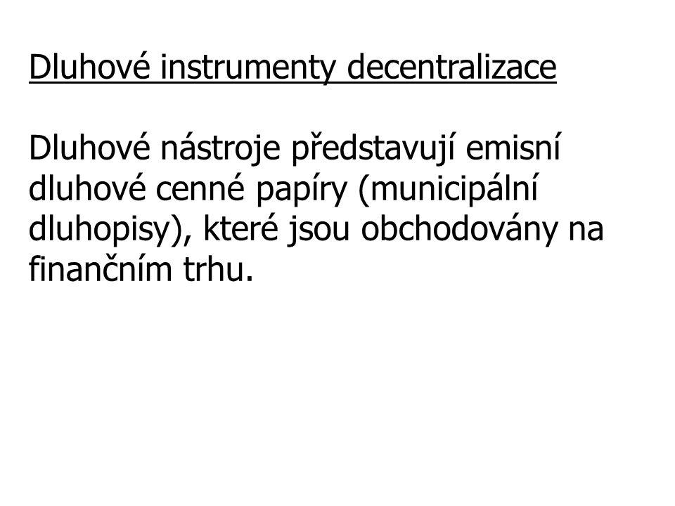 Dluhové instrumenty decentralizace