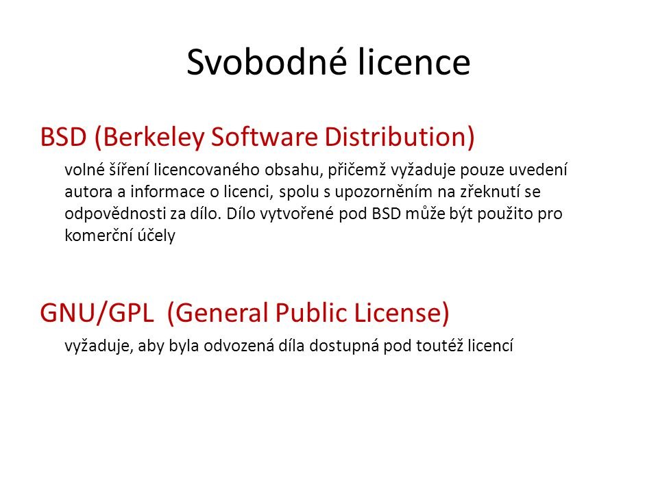 Svobodné licence BSD (Berkeley Software Distribution)