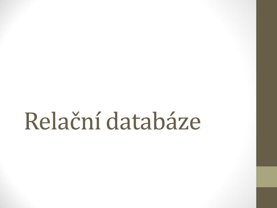 Relační databáze