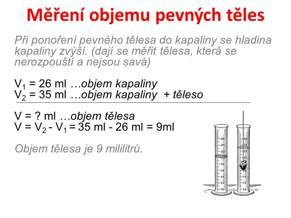 Měření objemu pevných těles