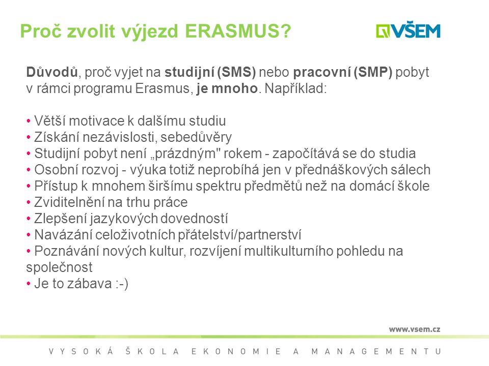 Proč zvolit výjezd ERASMUS