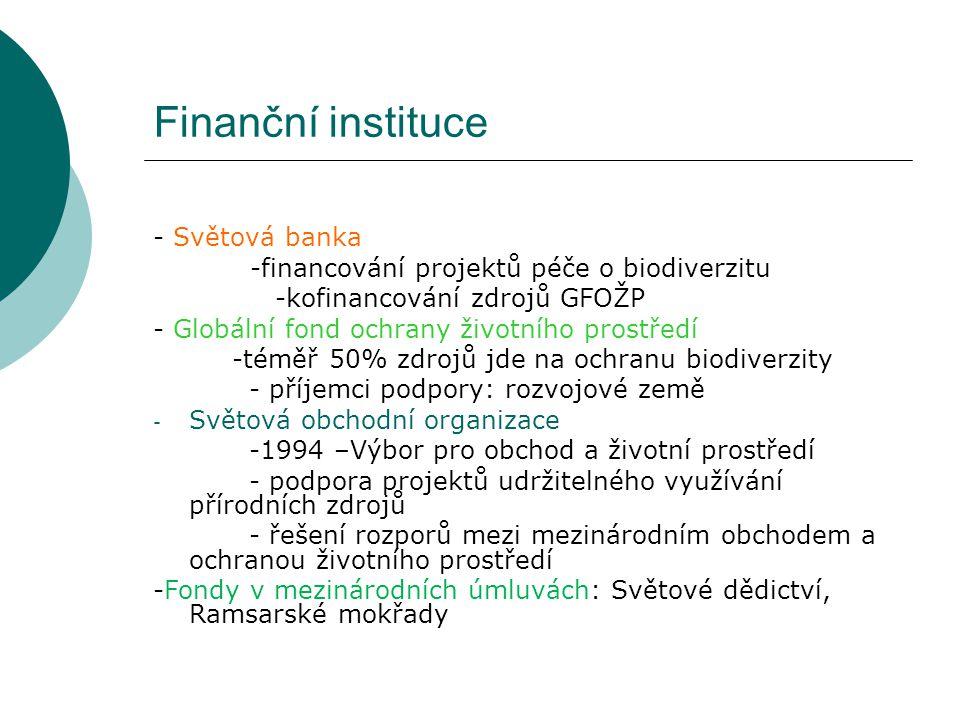 Finanční instituce - Světová banka