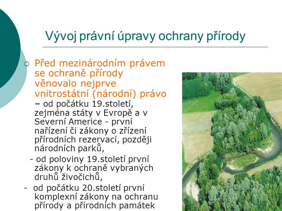 Vývoj právní úpravy ochrany přírody