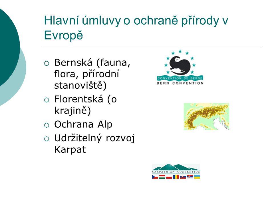 Hlavní úmluvy o ochraně přírody v Evropě
