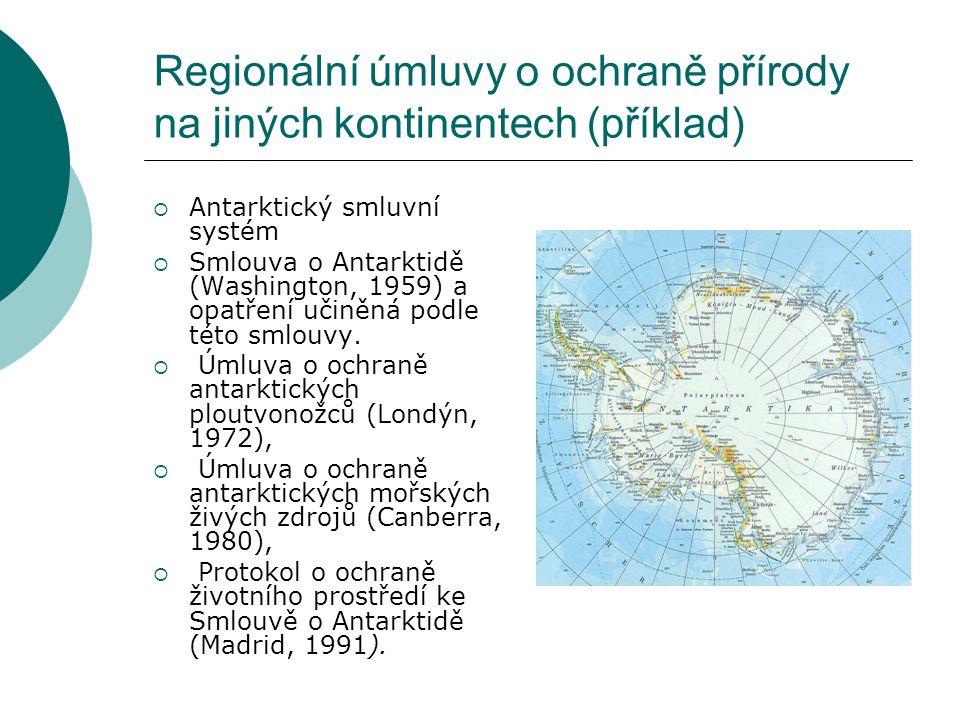Regionální úmluvy o ochraně přírody na jiných kontinentech (příklad)