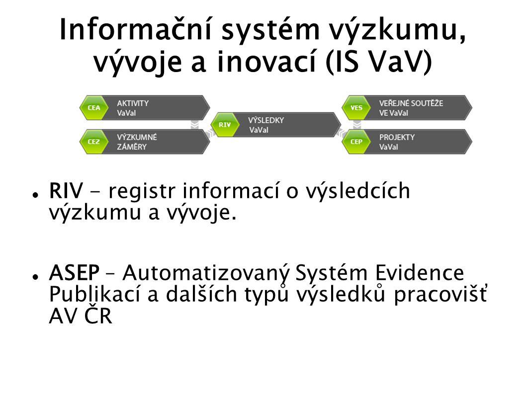 Informační systém výzkumu, vývoje a inovací (IS VaV)