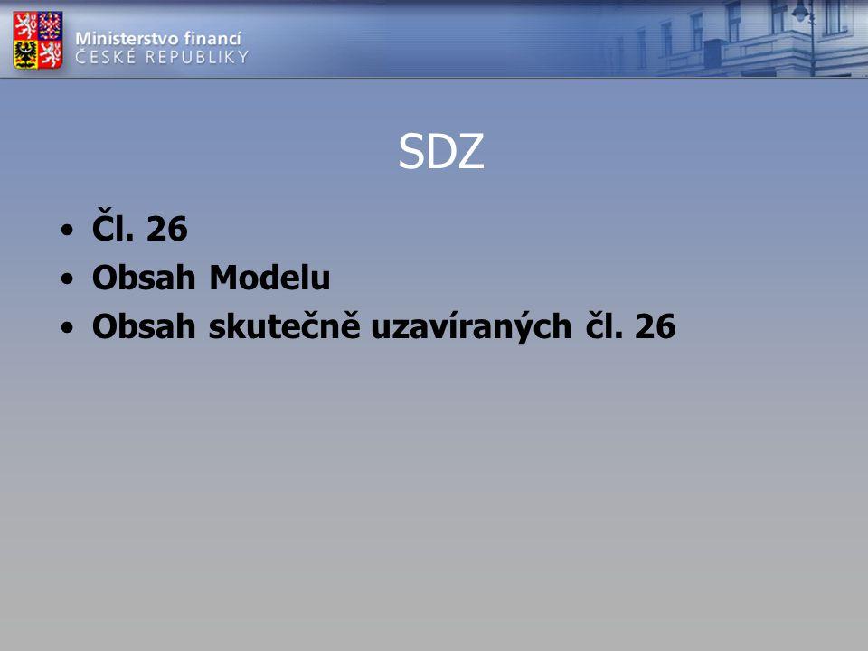 SDZ Čl. 26 Obsah Modelu Obsah skutečně uzavíraných čl. 26
