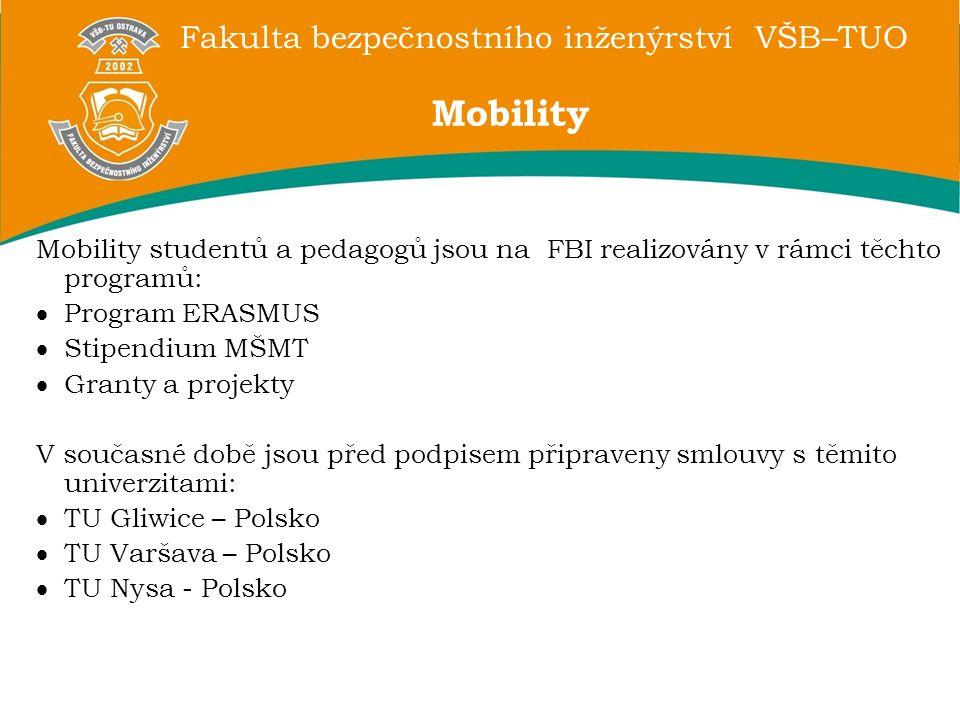 Mobility Mobility studentů a pedagogů jsou na FBI realizovány v rámci těchto programů: Program ERASMUS.