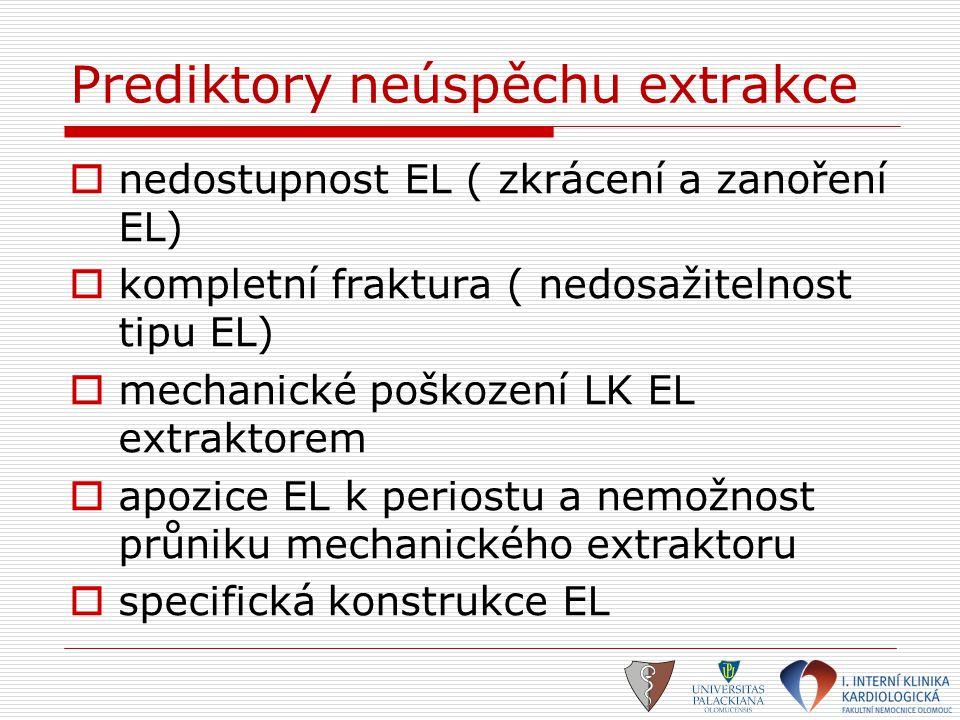 Prediktory neúspěchu extrakce