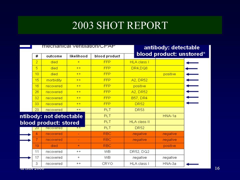 2003 SHOT REPORT ih BBr 2008