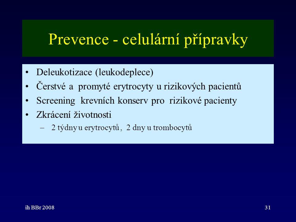 Prevence - celulární přípravky