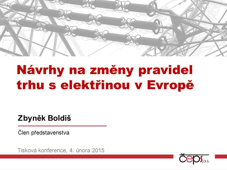 Návrhy na změny pravidel trhu s elektřinou v Evropě