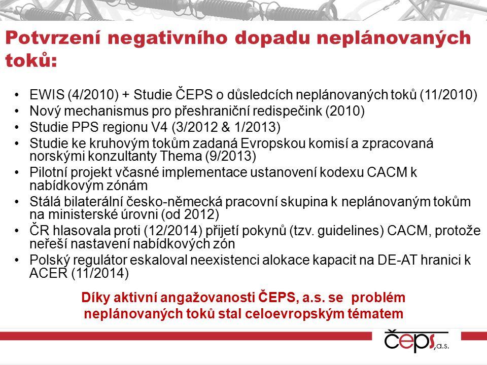 Potvrzení negativního dopadu neplánovaných toků: