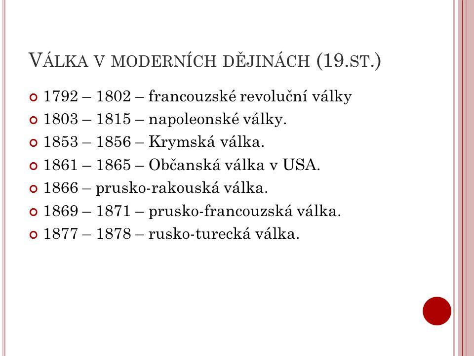 Válka v moderních dějinách (19.st.)