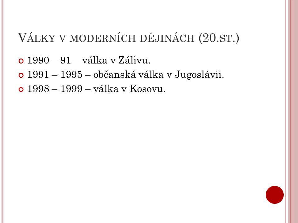 Války v moderních dějinách (20.st.)