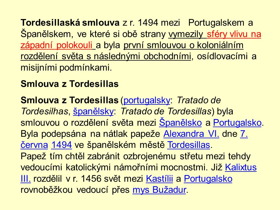 Tordesillaská smlouva z r