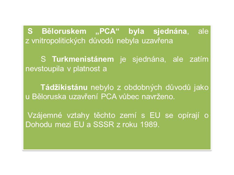 """S Běloruskem """"PCA byla sjednána, ale z vnitropolitických důvodů nebyla uzavřena"""