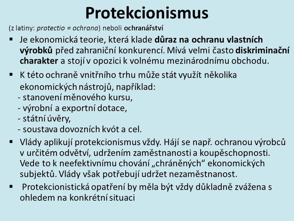 Protekcionismus (z latiny: protectio = ochrana) neboli ochranářství.