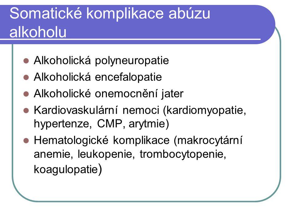 Somatické komplikace abúzu alkoholu