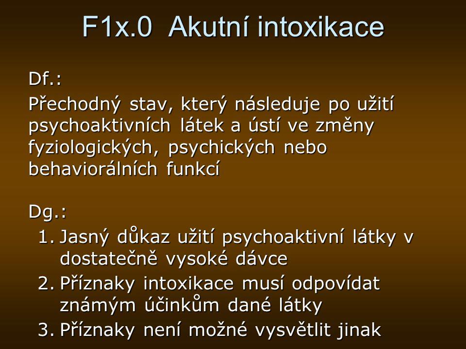 F1x.0 Akutní intoxikace Df.: