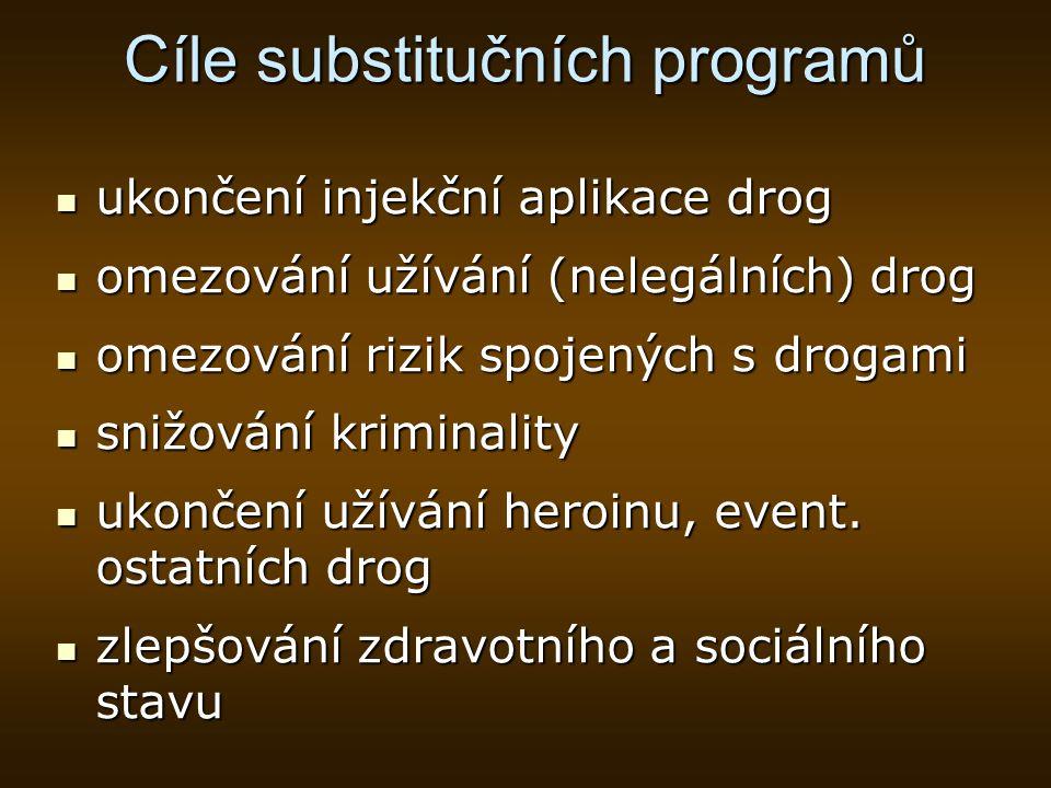 Cíle substitučních programů