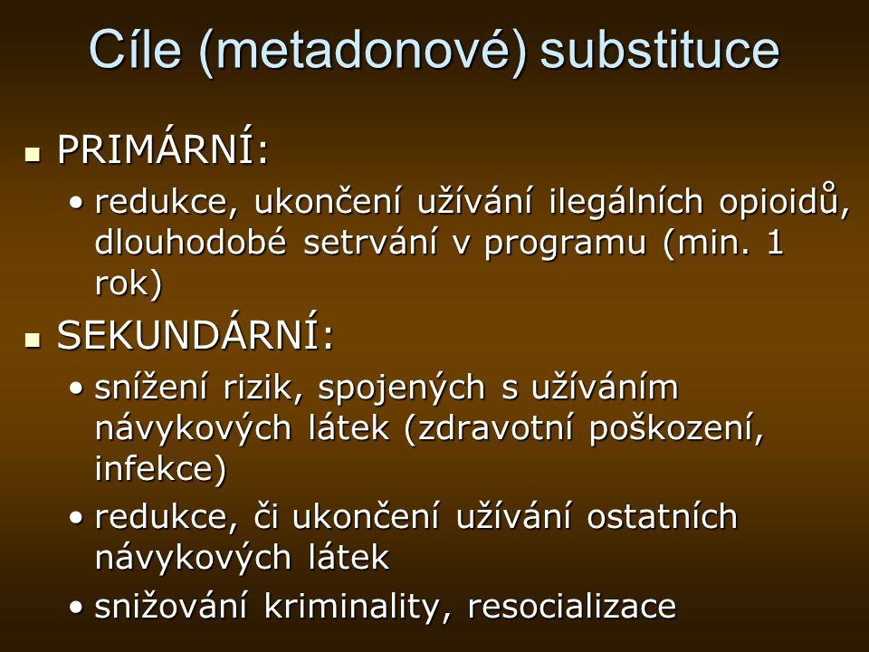 Cíle (metadonové) substituce