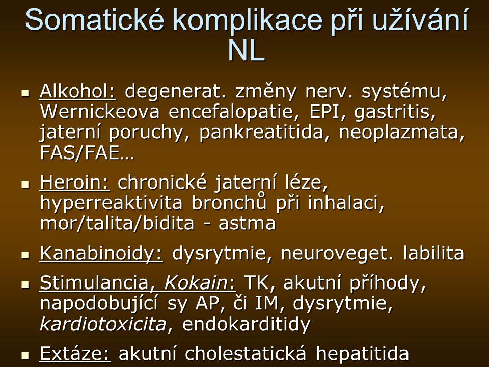 Somatické komplikace při užívání NL