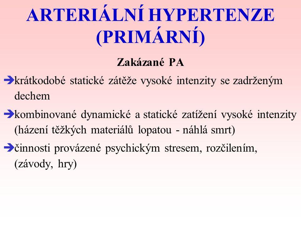 ARTERIÁLNÍ HYPERTENZE (PRIMÁRNÍ)