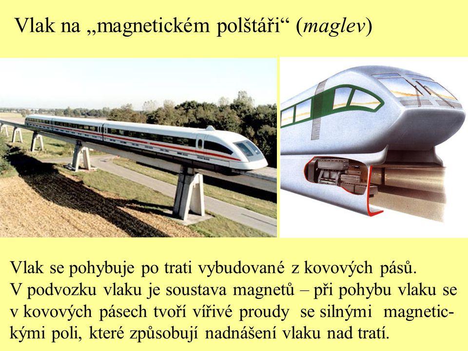 """Vlak na """"magnetickém polštáři (maglev)"""