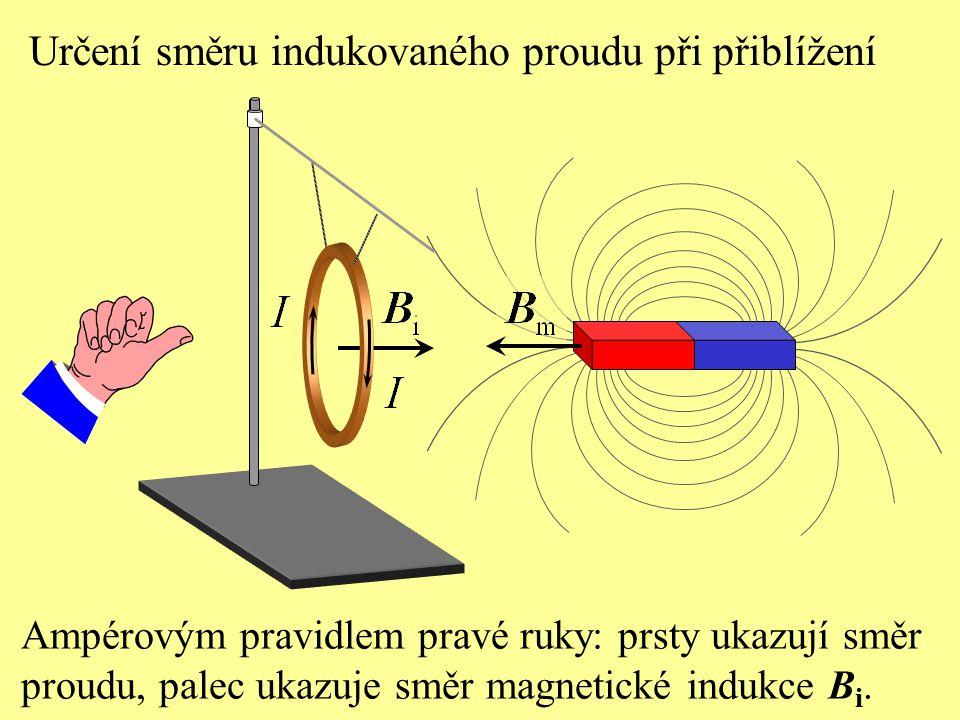 Určení směru indukovaného proudu při přiblížení